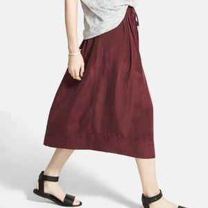 'Sunset' Silk Midi Skirt